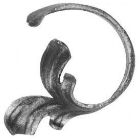 Barokové céčko ľavé 12 x 5 mm