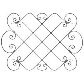 Barokový ozdobný stredový elemement 16 x 8 mm