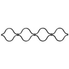 Vlnovkový ozdobný profil Ø 10 mm