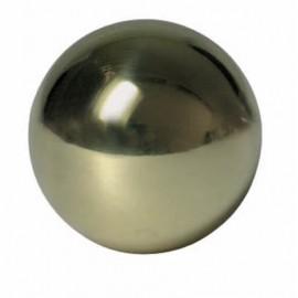 Mosadzná guľa plná 30 mm, slepý otvor 12.2 mm
