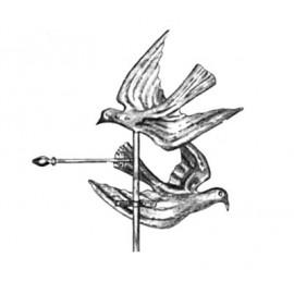 Zástava hrdličiek z medi