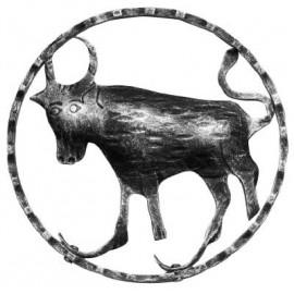 Znamenie - býk - ozdobný element
