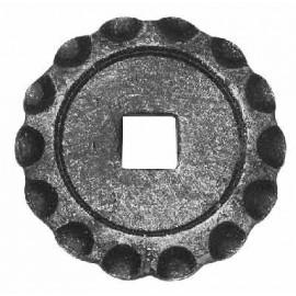 Podlahová platnička guľatá