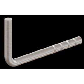 Nerezový držiak madla navarovací 14 mm