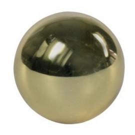 Mosadzná guľa plná 25 mm s priechodným otvorom 12.2 mm