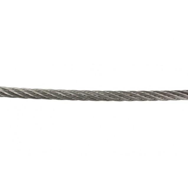 Flexibilné nerezové lano 7 x 7, Ø 3 mm