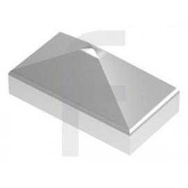 Nerezová pyramídová krytka 50 x 30 mm, zabrúsené rohy