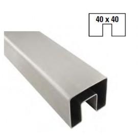 Nerezový U profil 40 x 40 x 6000 mm