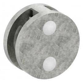 Kruhový úchyt skla 60 x 28 mm plochý