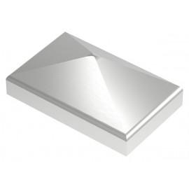 Nerezová pyramídová krytka 50 x 30 mm, zabrúsené rohy V4A