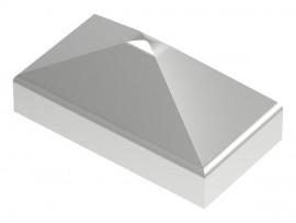Nerezové krytky stĺpikov pyramídové - obdĺžnikové