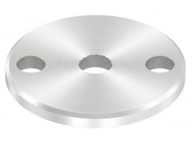 Nerezové kotviace platničky okrúhle 3-dierové