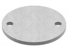 Oceľové kotviace platničky okrúhle 2-dierové