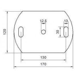 Kotviaca platnička 170 x 120 x 8 mm