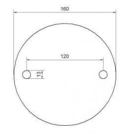 Kotviaca platnička 160 x 10 mm