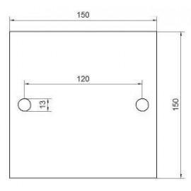 Kotviaca platnička 150 x 150 x 10 mm